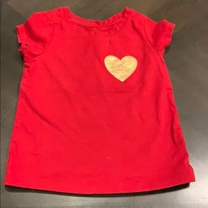 5/$10 | cat and jack heart T-shirt 3t
